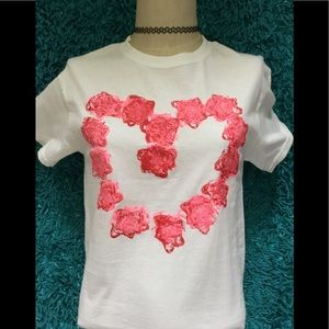 Heart T-shirt! New Item! Hand Painted!